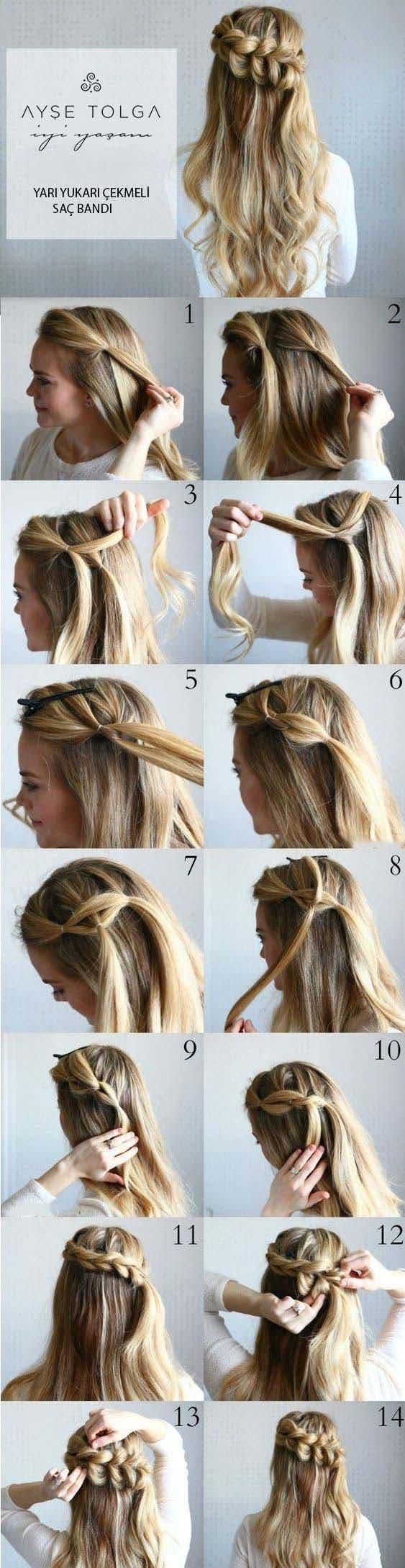 Meşgul günler için 7 kolay topuz saç modelleri