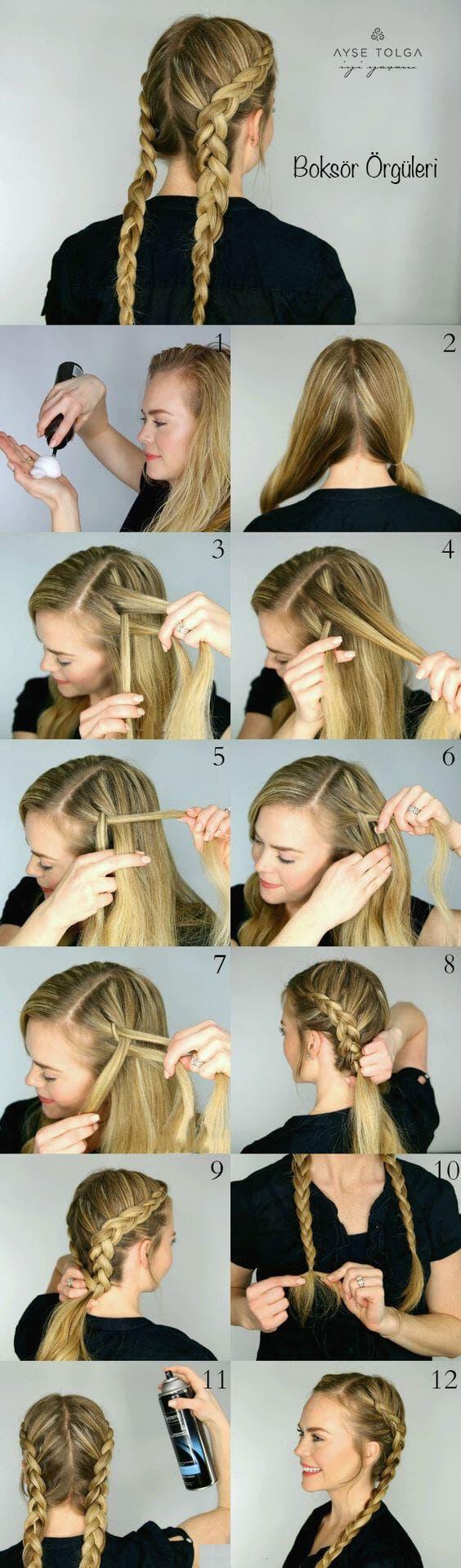 Fransız Örgülü Saç Modeli Nasıl Yapılır