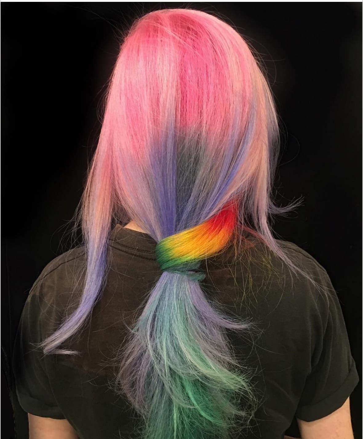 Окрашивание омбре: переход волос от темного к светлому 83