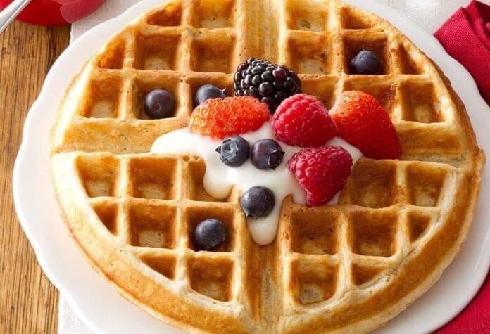 Yulaflı waffle